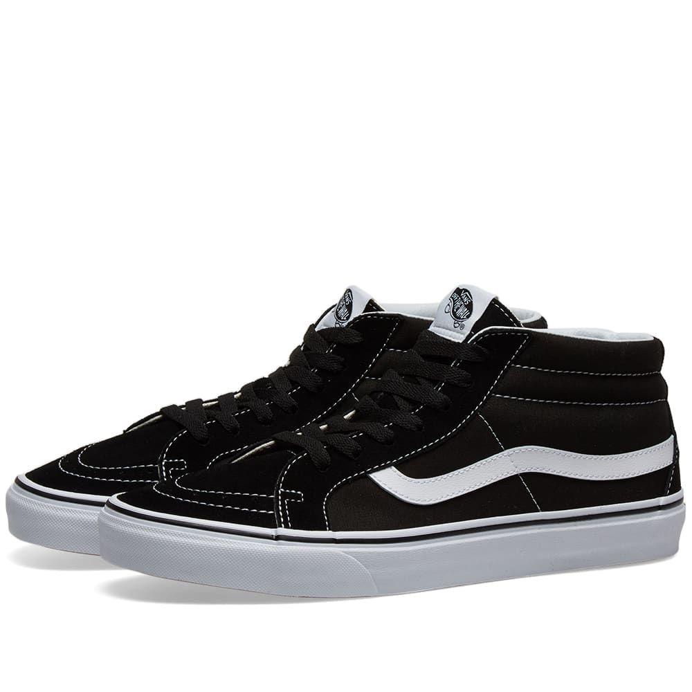 ヴァンズ Vans メンズ スニーカー シューズ・靴【ua sk8-mid reissue】Black/True White