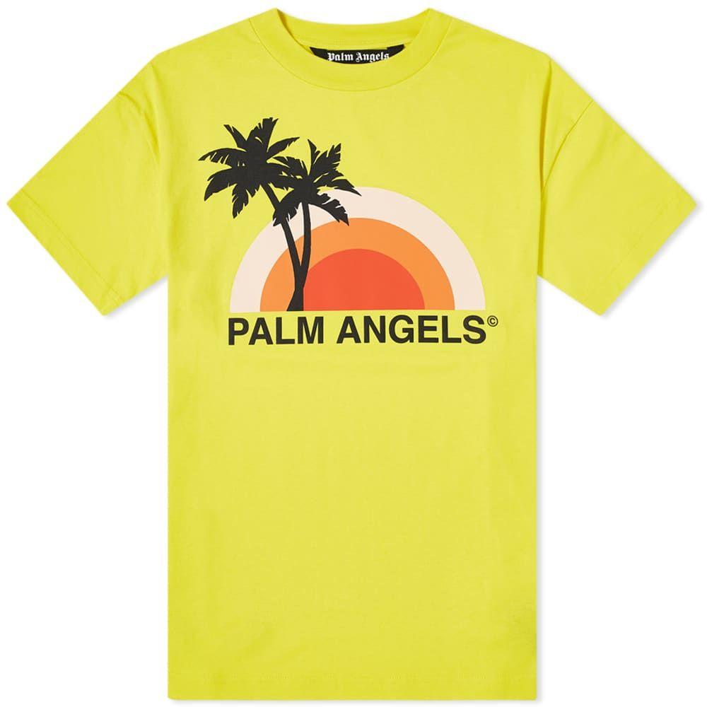 パーム エンジェルス Palm Angels メンズ Tシャツ トップス【Sunset Tee】Yellow/Multi