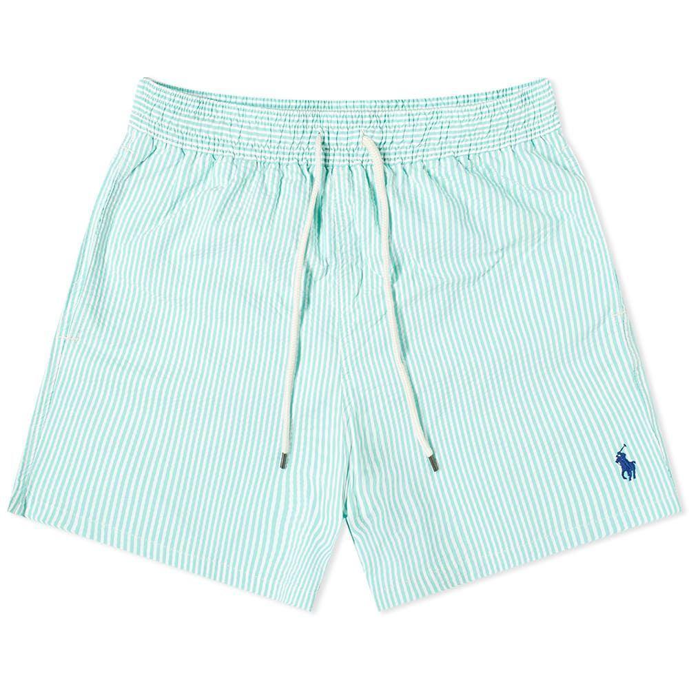 ラルフ ローレン Polo Ralph Lauren メンズ 海パン 水着・ビーチウェア【Seersucker Traveller Swim Short】Hawaiian Green Seersucker