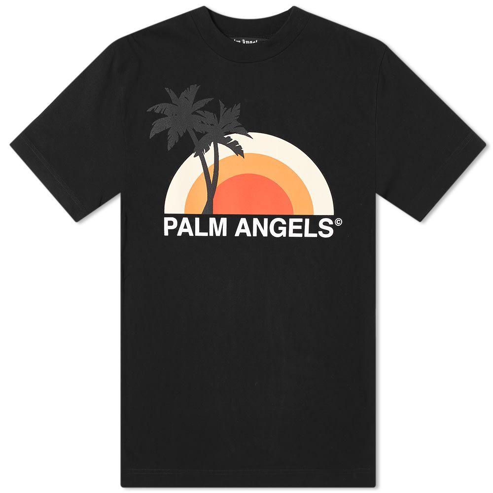 パーム エンジェルス Palm Angels メンズ Tシャツ トップス【Sunset Tee】Black/Multi