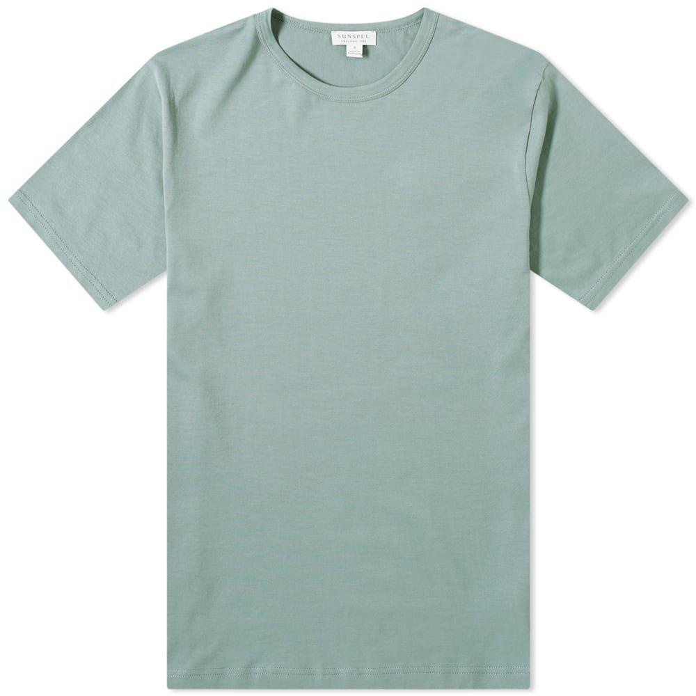 サンスペル Sunspel メンズ Tシャツ トップス【Classic Crew Tee】Sage