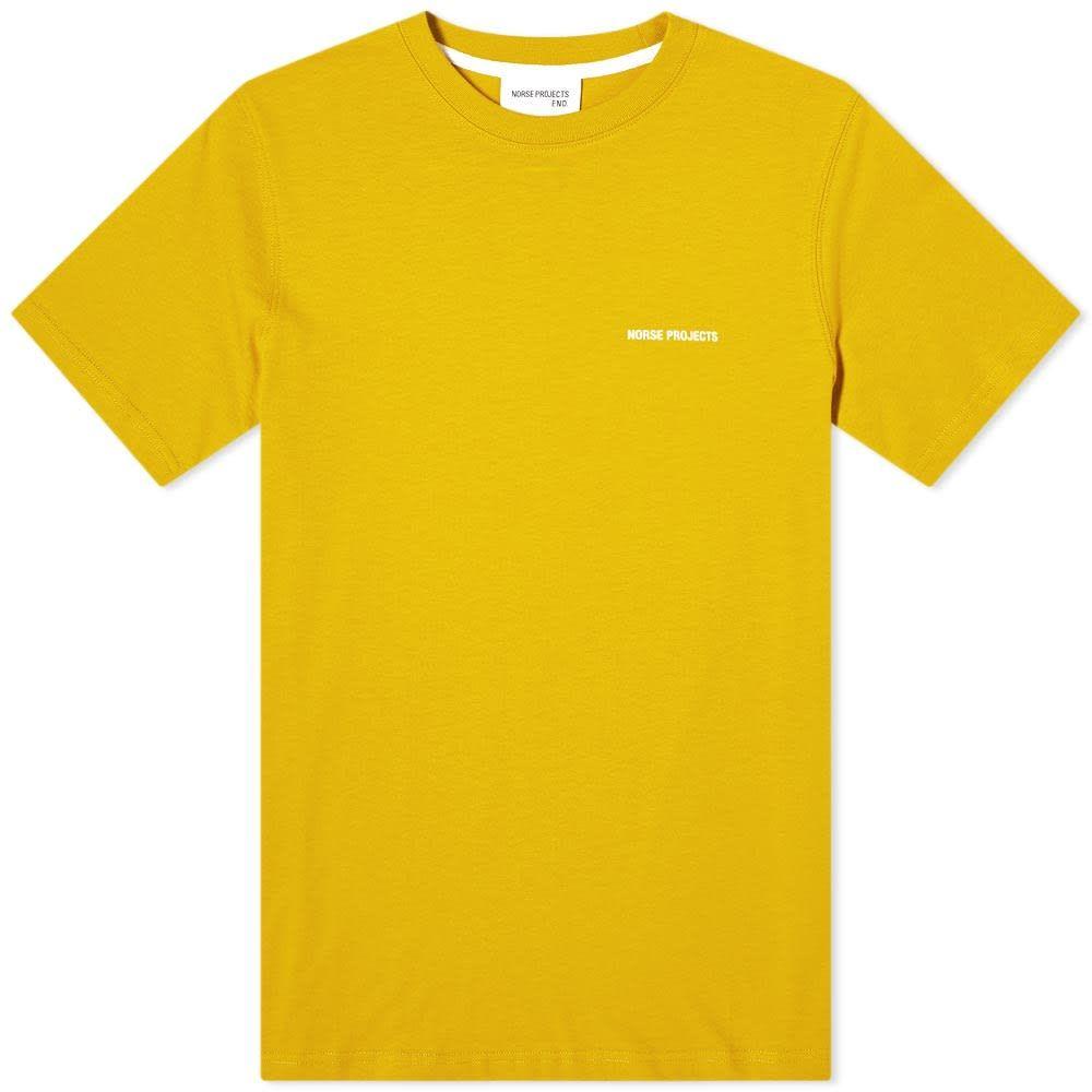 ノースプロジェクト メンズ NEW売り切れる前に☆ トップス Tシャツ Montpellier Yellow White 年間定番 Norse Niels Tee Projects ロゴTシャツ サイズ交換無料 Logo