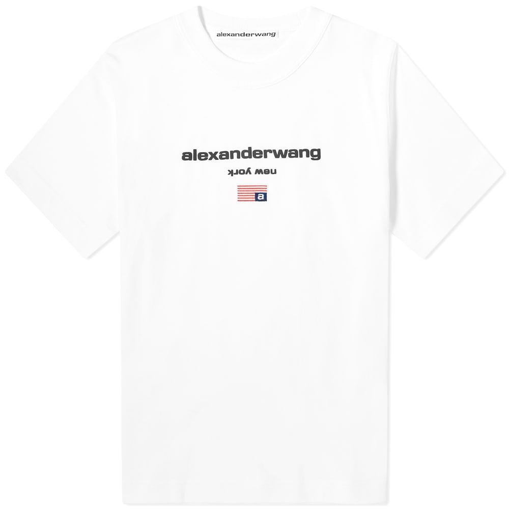 アレキサンダー ワン Alexander Wang メンズ Tシャツ ロゴTシャツ トップス【Logo Tee】White