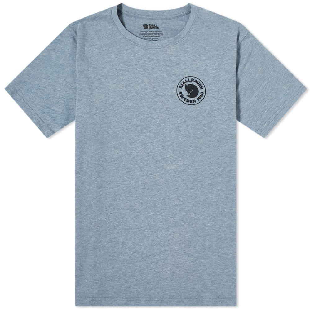 フェールラーベン Fjallraven メンズ Tシャツ ロゴTシャツ トップス【1960 Logo Tee】Uncle Blue/Melange