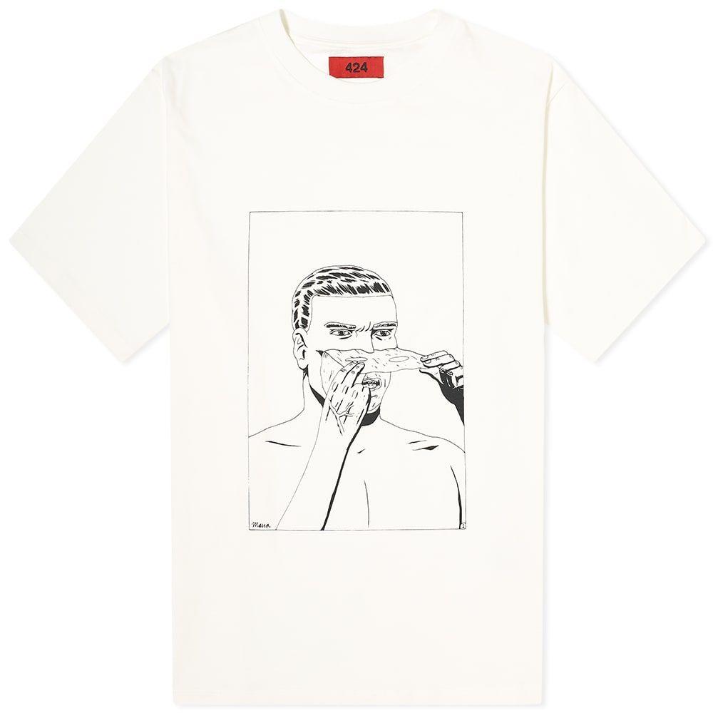 フォートゥーフォー 424 メンズ Tシャツ トップス【Face Off Comics Tee】Off-White