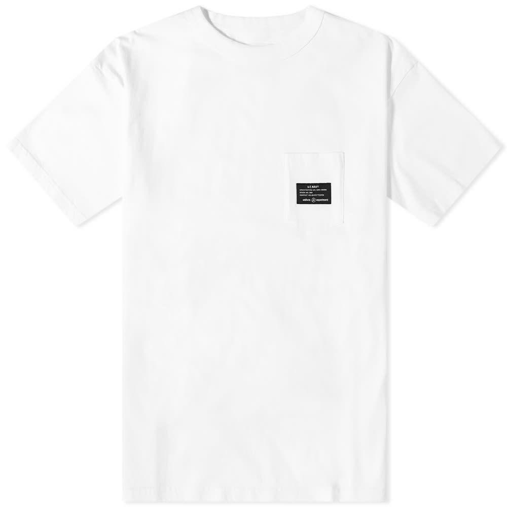 ユニフォームエクスペリメント Uniform Experiment メンズ Tシャツ ポケット トップス【Mil Pocket Tee】White