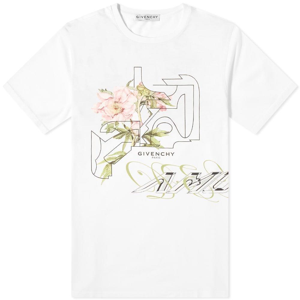 ジバンシー Givenchy メンズ Tシャツ トップス【Peony Print Tee】White