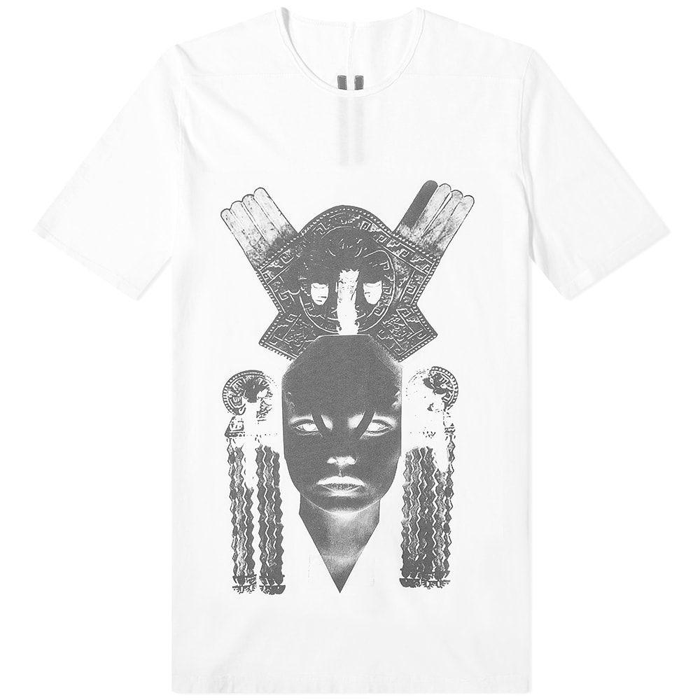 リック オウエンス Rick Owens メンズ Tシャツ トップス【DRKSHDW Aztec Mask Level Tee】Chalk White/Black