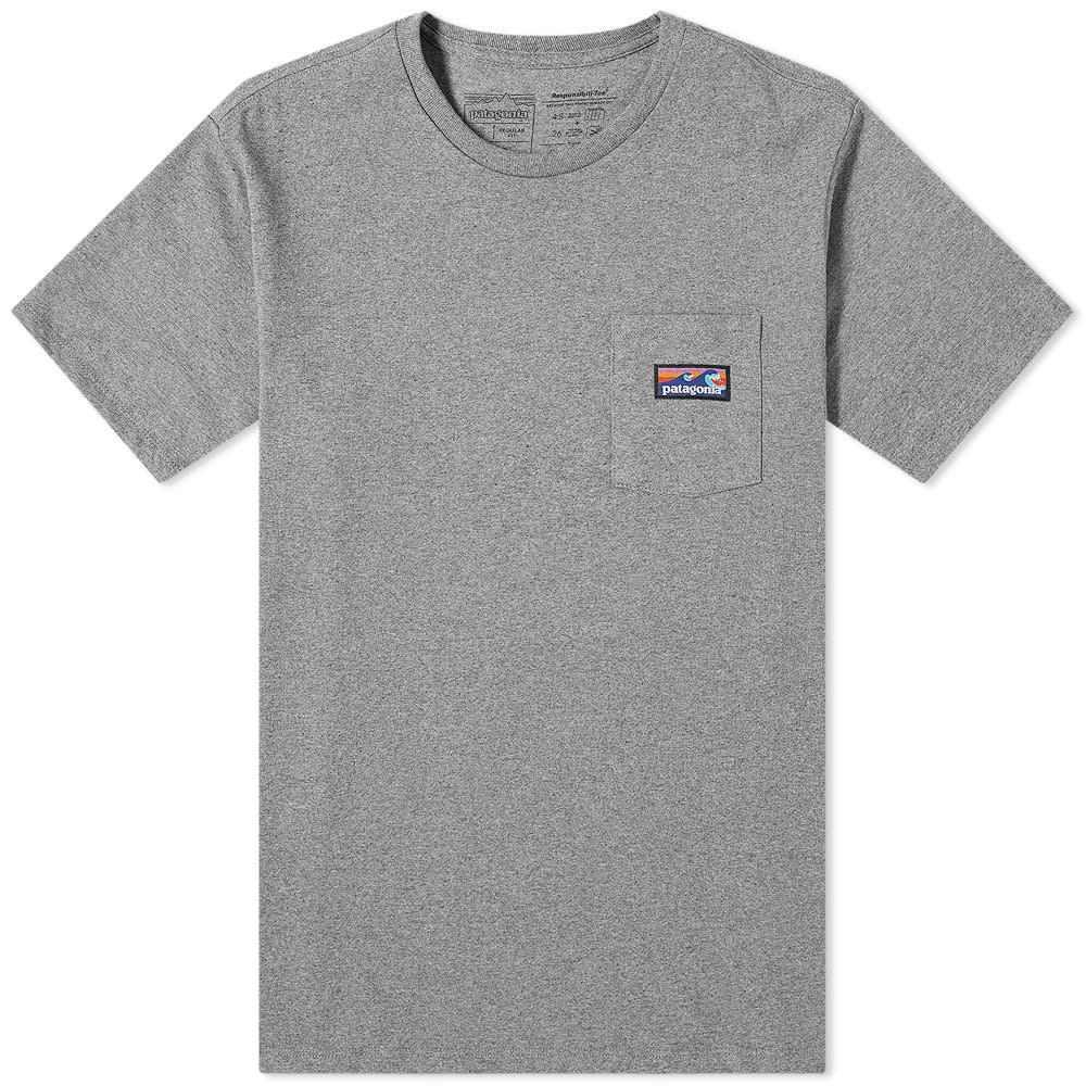 パタゴニア Patagonia メンズ Tシャツ トップス【Boardshort Label Pocket Responsibili-Tee】Gravel Heather