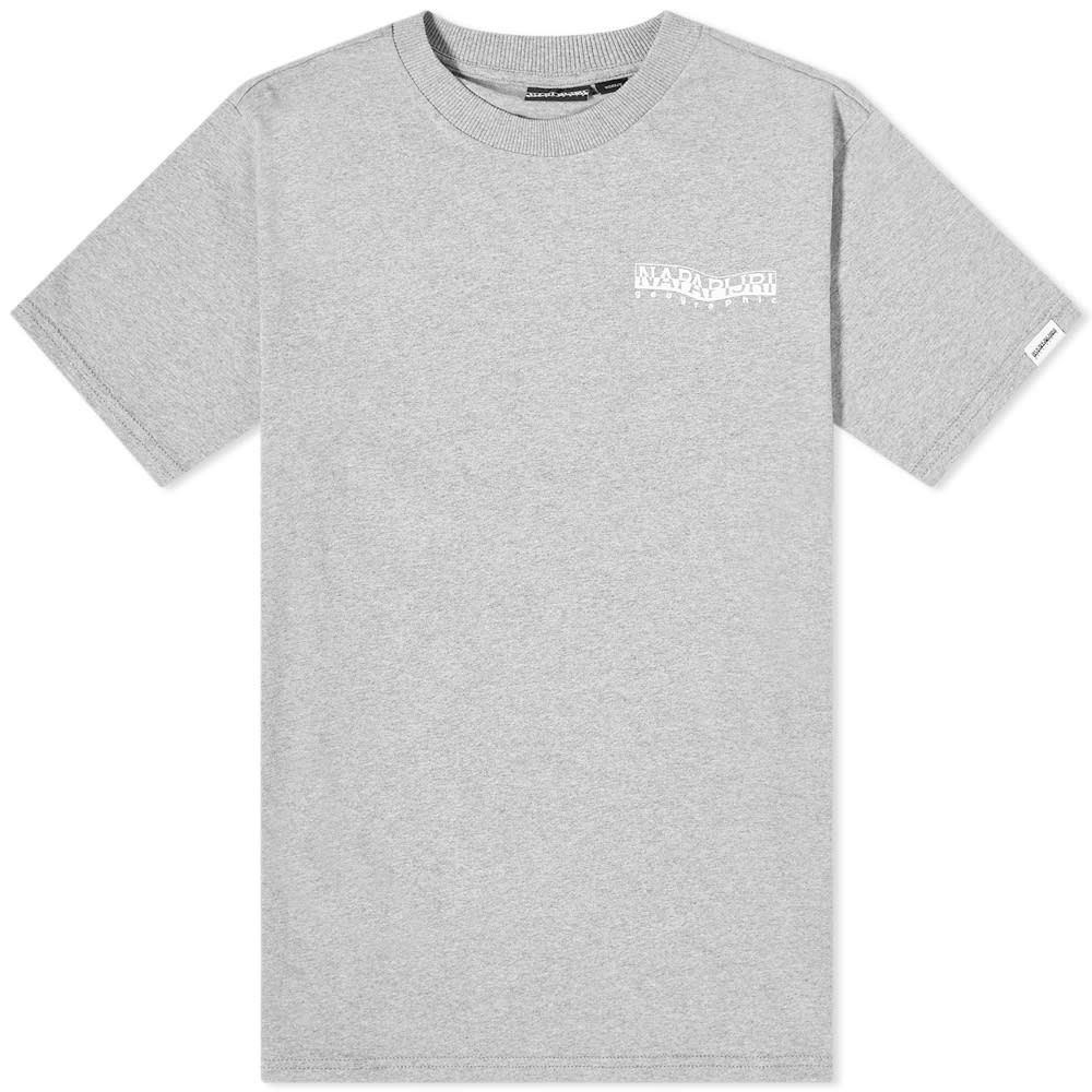 ナパピリ Napapijri メンズ Tシャツ トップス【Sole Back Print Tee】Grey