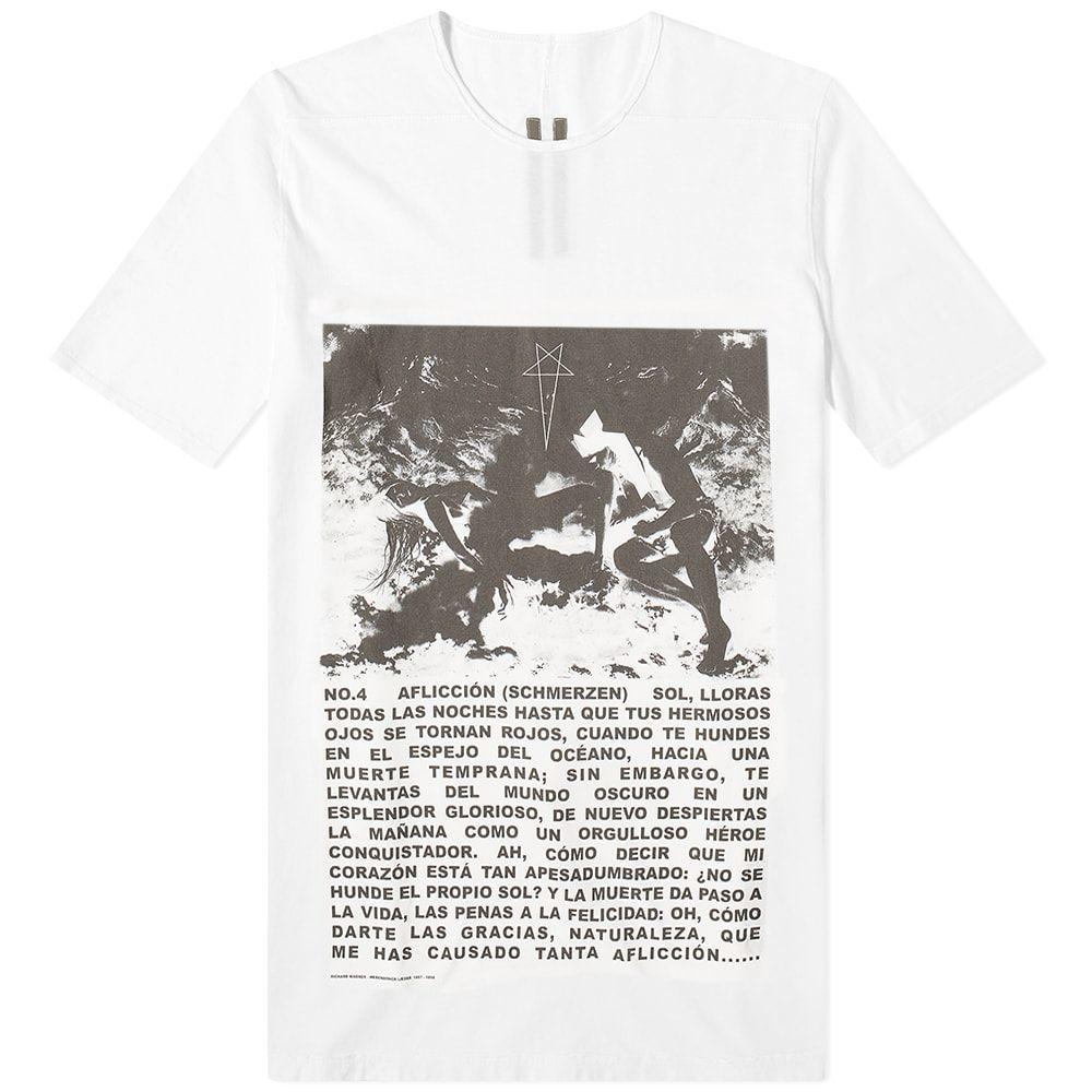 リック オウエンス Rick Owens メンズ Tシャツ トップス【DRKSHDW Level Print Tee】Chalk White/Black