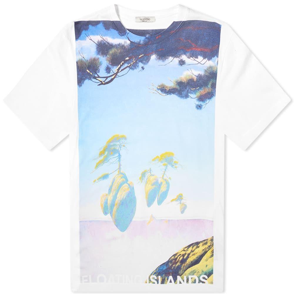 ヴァレンティノ Valentino メンズ Tシャツ トップス【x Roger Dean Floating Island Tee】White/Multi