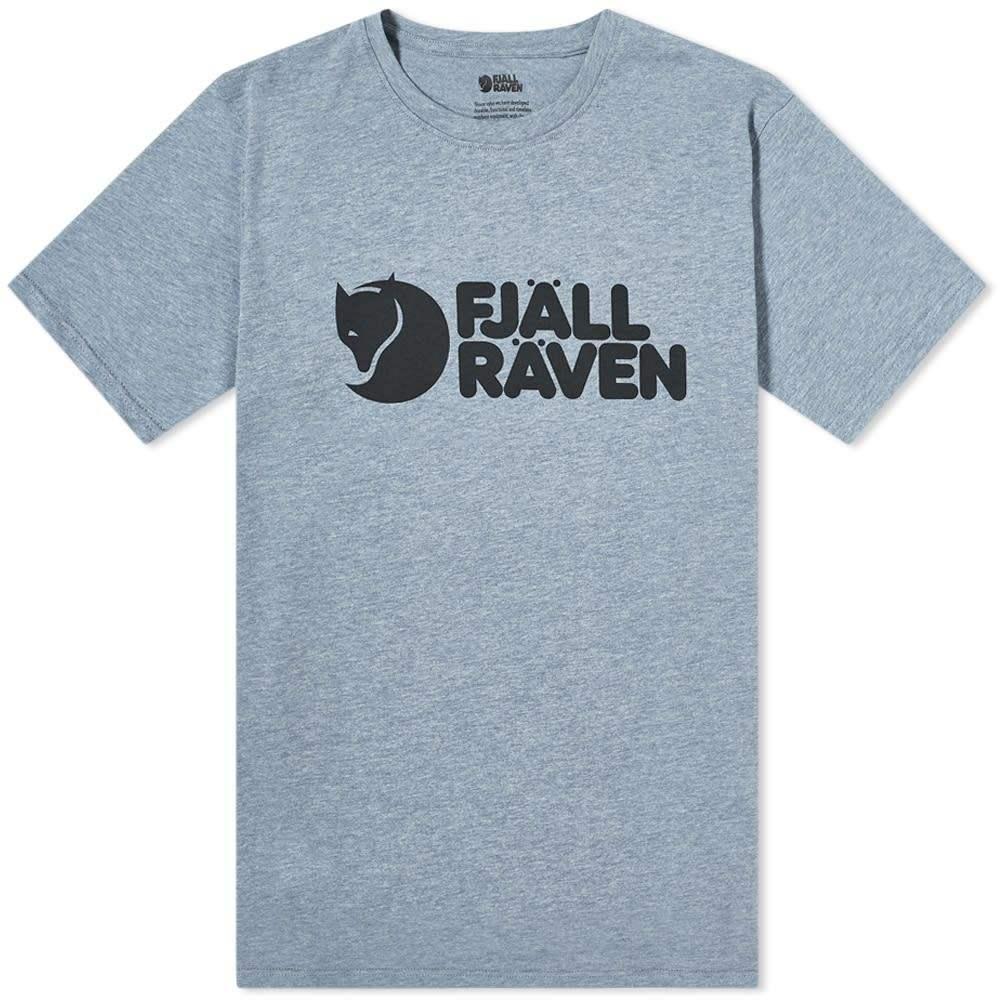 フェールラーベン メンズ スーパーセール トップス Tシャツ Uncle ファッション通販 Blue Melange サイズ交換無料 ロゴTシャツ Logo Tee Fjallraven