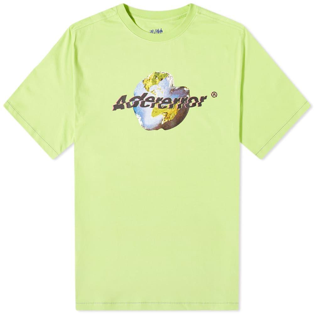 アーダーエラー ADER Error メンズ Tシャツ ロゴTシャツ トップス【ADER error Earth Logo Tee】Yellow/Green