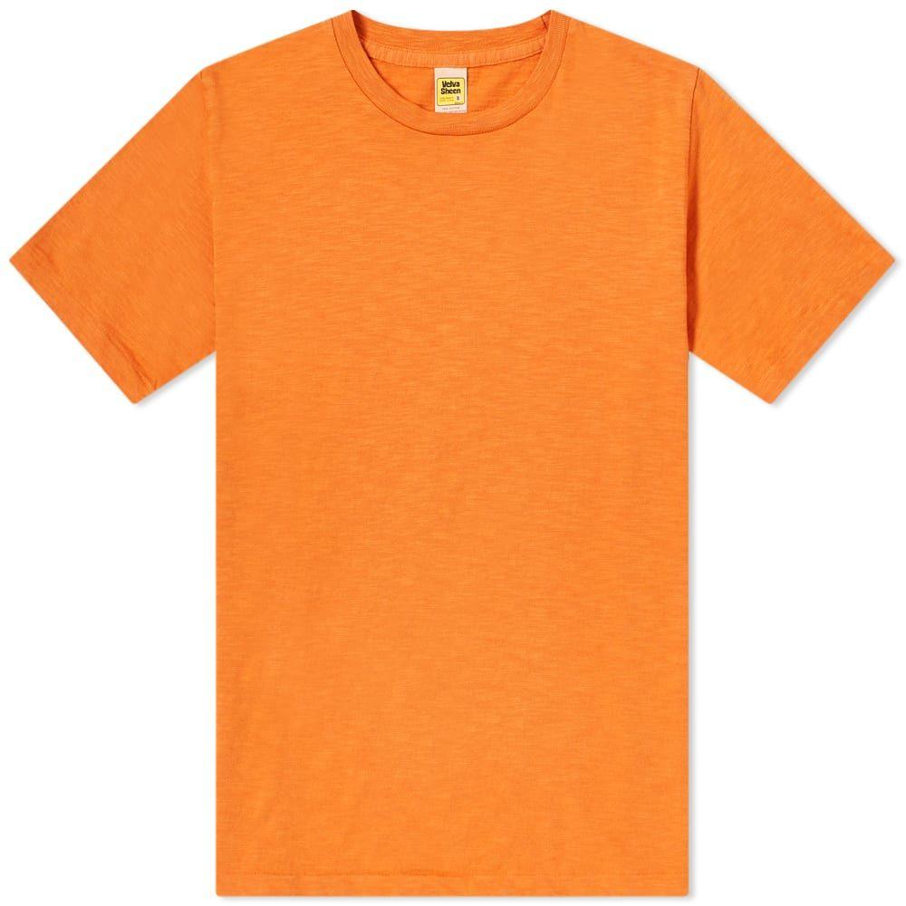 ベルバシーン メンズ 卓越 ☆正規品新品未使用品 トップス Tシャツ Orange Sheen Tee Velva Regular サイズ交換無料