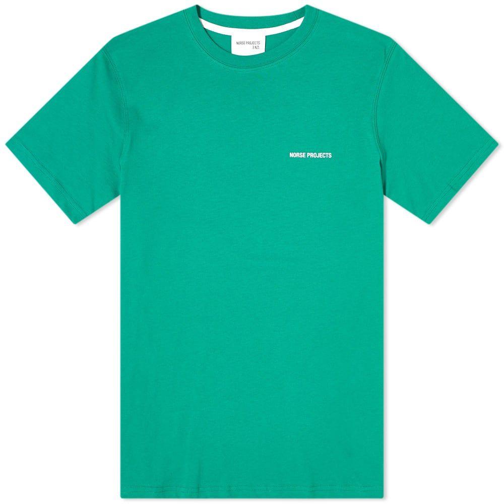 ノースプロジェクト Norse Projects メンズ Tシャツ ロゴTシャツ トップス【Niels Logo Tee】Sporting Green/White