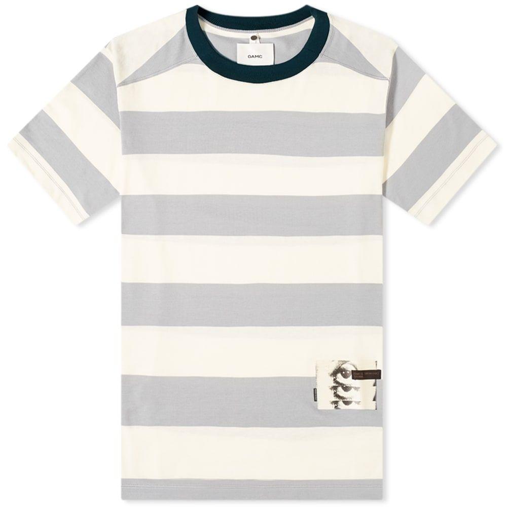 オーエーエムシー OAMC メンズ Tシャツ トップス【Jay Wide Stripe Tee】Light Pastel/Grey