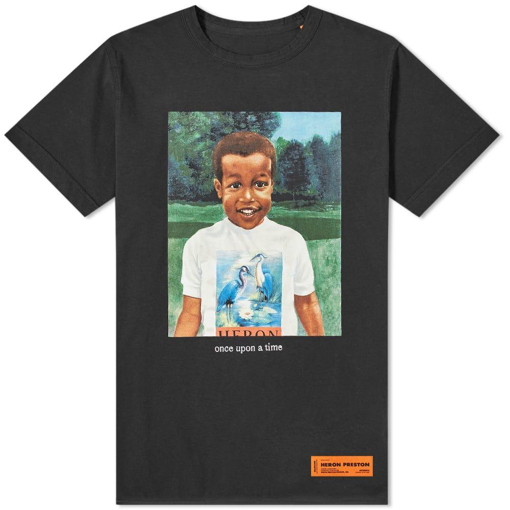 ヘロン プレストン Heron Preston メンズ Tシャツ チビT トップス【Baby Heron Print Tee】Black