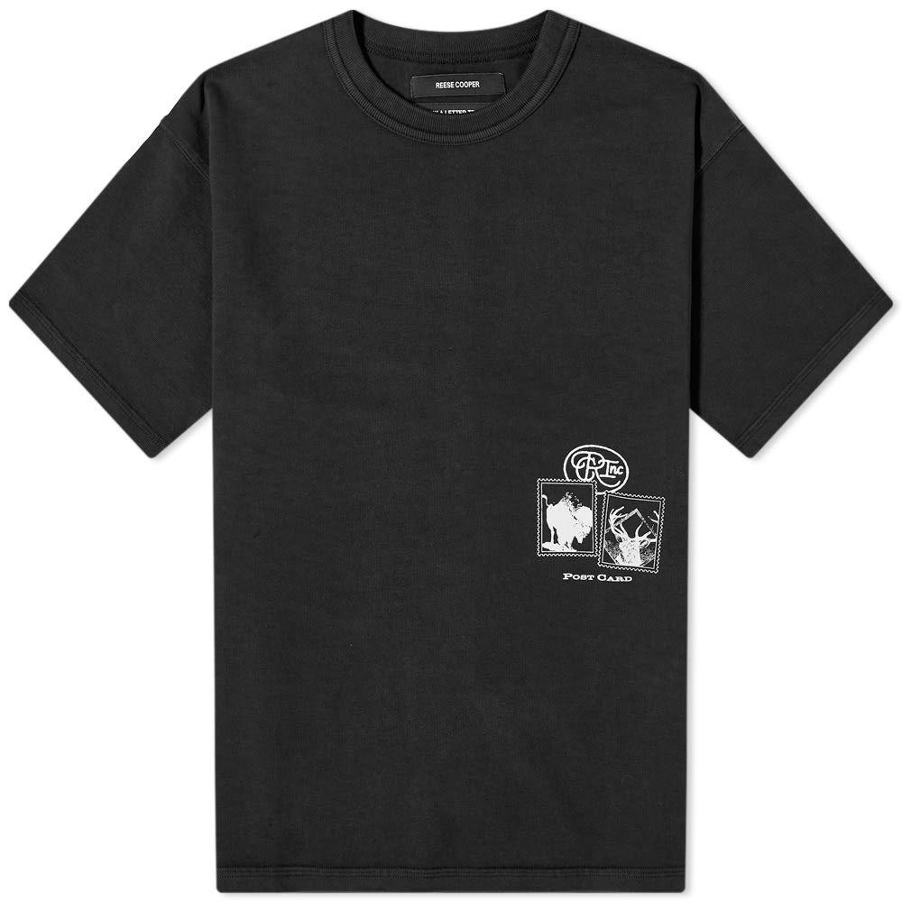 リースクーパー Reese Cooper メンズ Tシャツ トップス【Postcard Aged Tee】Vintage Black