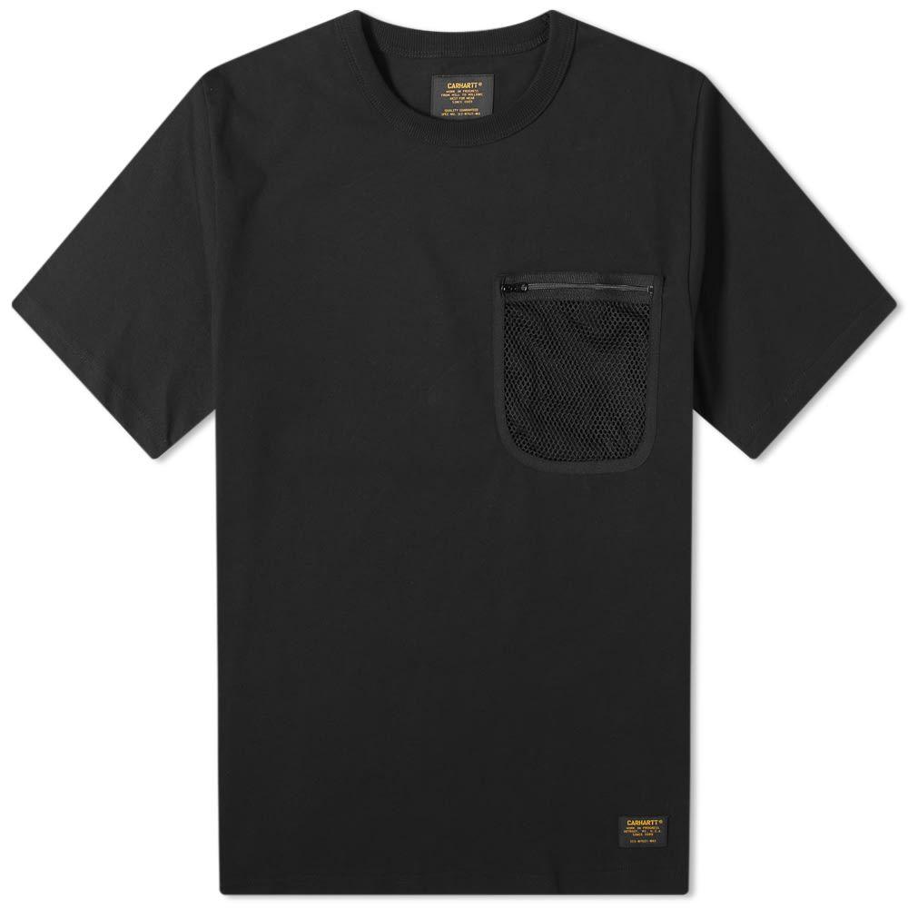 カーハート Carhartt WIP メンズ Tシャツ ポケット トップス【Military Mesh Pocket Tee】Black