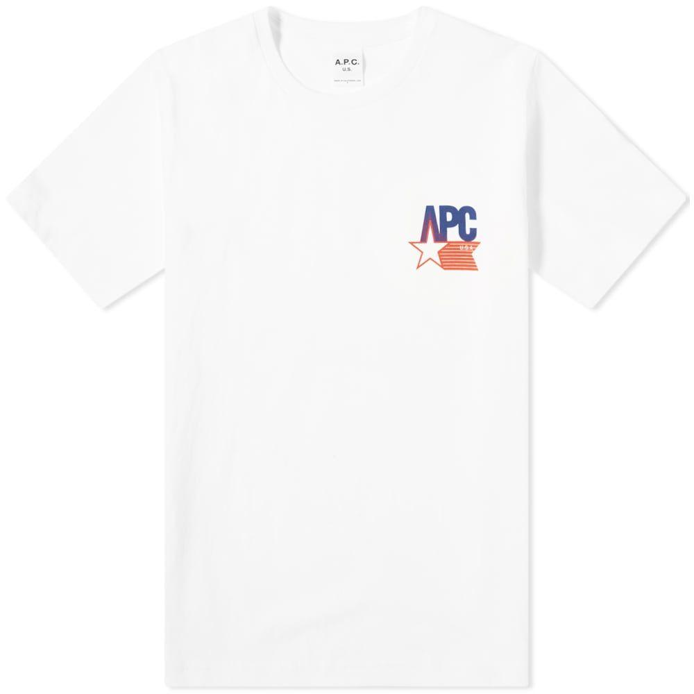 アーペーセー A.P.C. メンズ Tシャツ ロゴTシャツ トップス【Marcellus USA Logo Tee】White