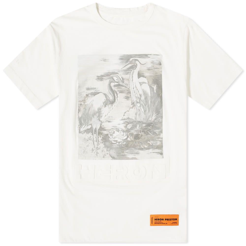 ヘロン プレストン Heron Preston メンズ Tシャツ トップス【Heron Debossed Birds Print Tee】White