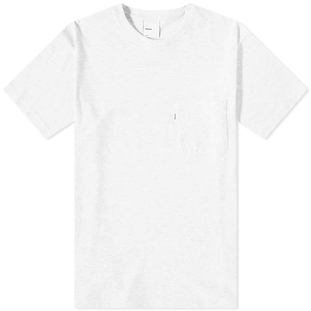 アドサム Adsum メンズ Tシャツ ポケット トップス【Pocket Tee】Light Heather Grey