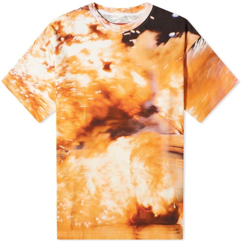フォートゥーフォー 424 メンズ Tシャツ トップス【Explosion Tee】Red