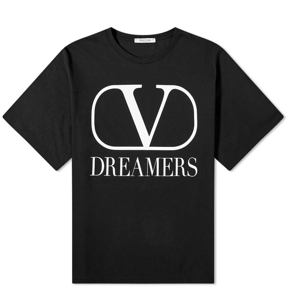 大流行中! ヴァレンティノ Valentino メンズ メンズ Tシャツ ロゴTシャツ トップス【V Dreamers Dreamers Logo Tee】Black/White Tee】Black/White:フェルマート, ホビーショップてづか:c9bed844 --- nagari.or.id