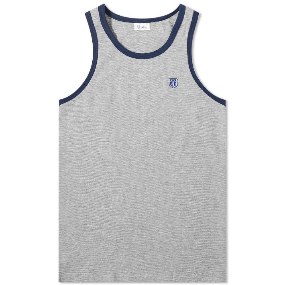 シーサー メンズ トップス Tシャツ Grey Melange Leo Tee Schiesser Striped 直輸入品激安 サイズ交換無料 訳ありセール 格安 Ringer