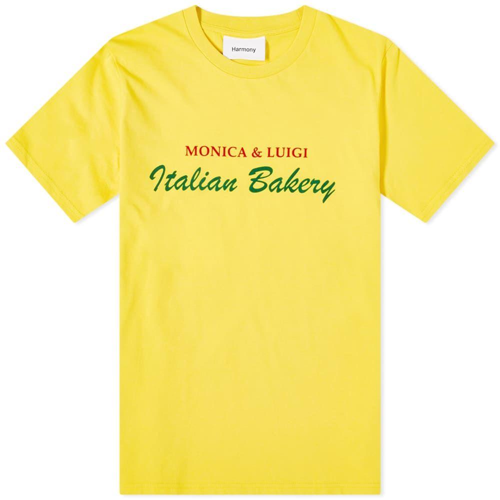 ハーモニー Harmony メンズ Tシャツ トップス【Monica and Luigi Tee】Spectra Yellow