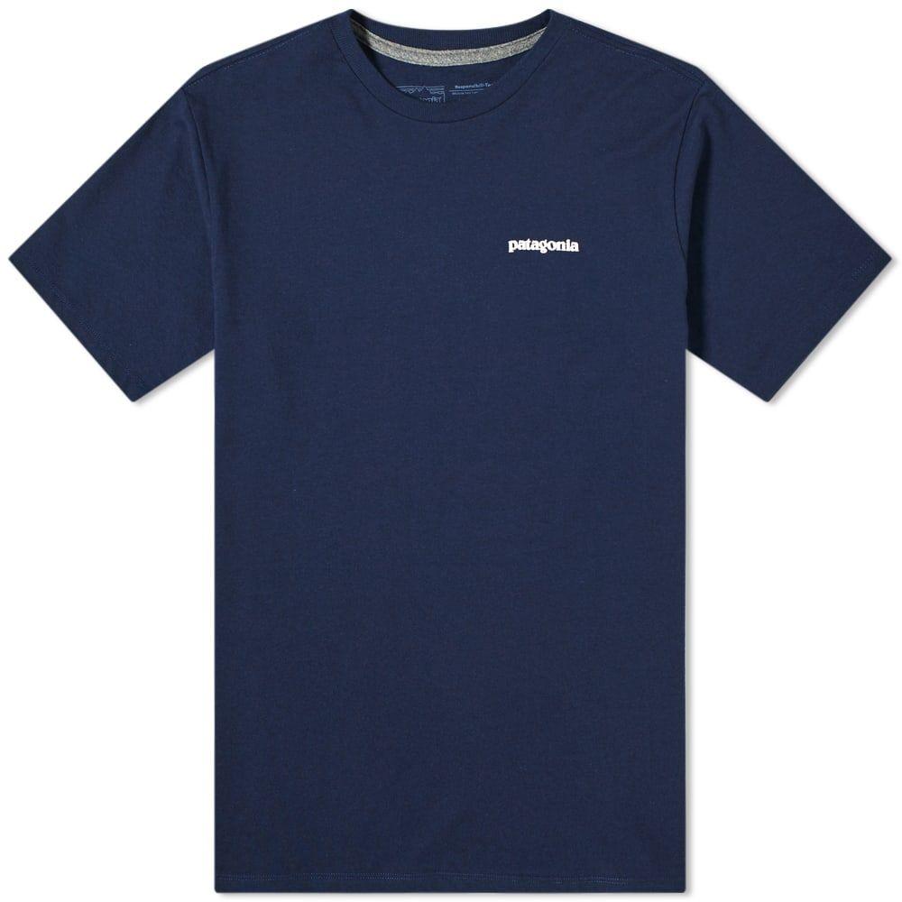 日本メーカー新品 パタゴニア メンズ トップス Tシャツ Classic 送料無料でお届けします Navy Patagonia Logo P-6 サイズ交換無料 Responsibili-Tee