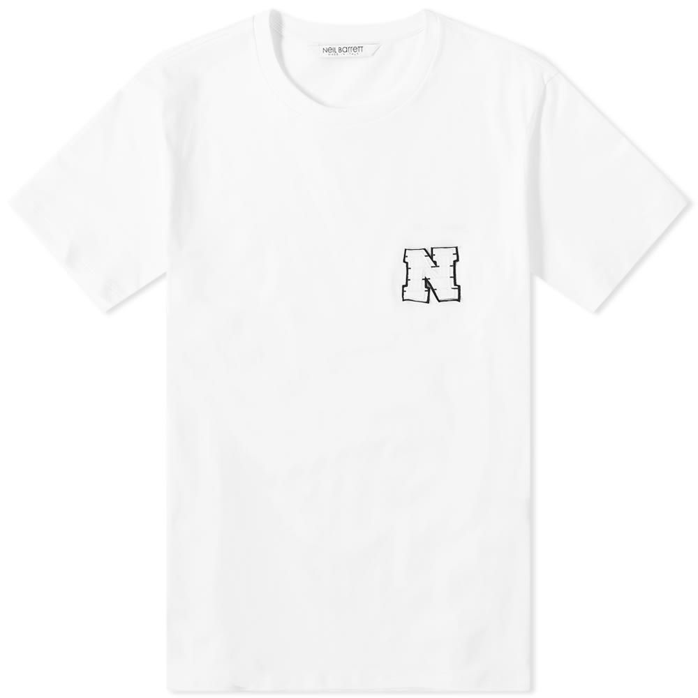 ニール バレット Neil Barrett メンズ Tシャツ トップス【Applique Patch N Tee】White