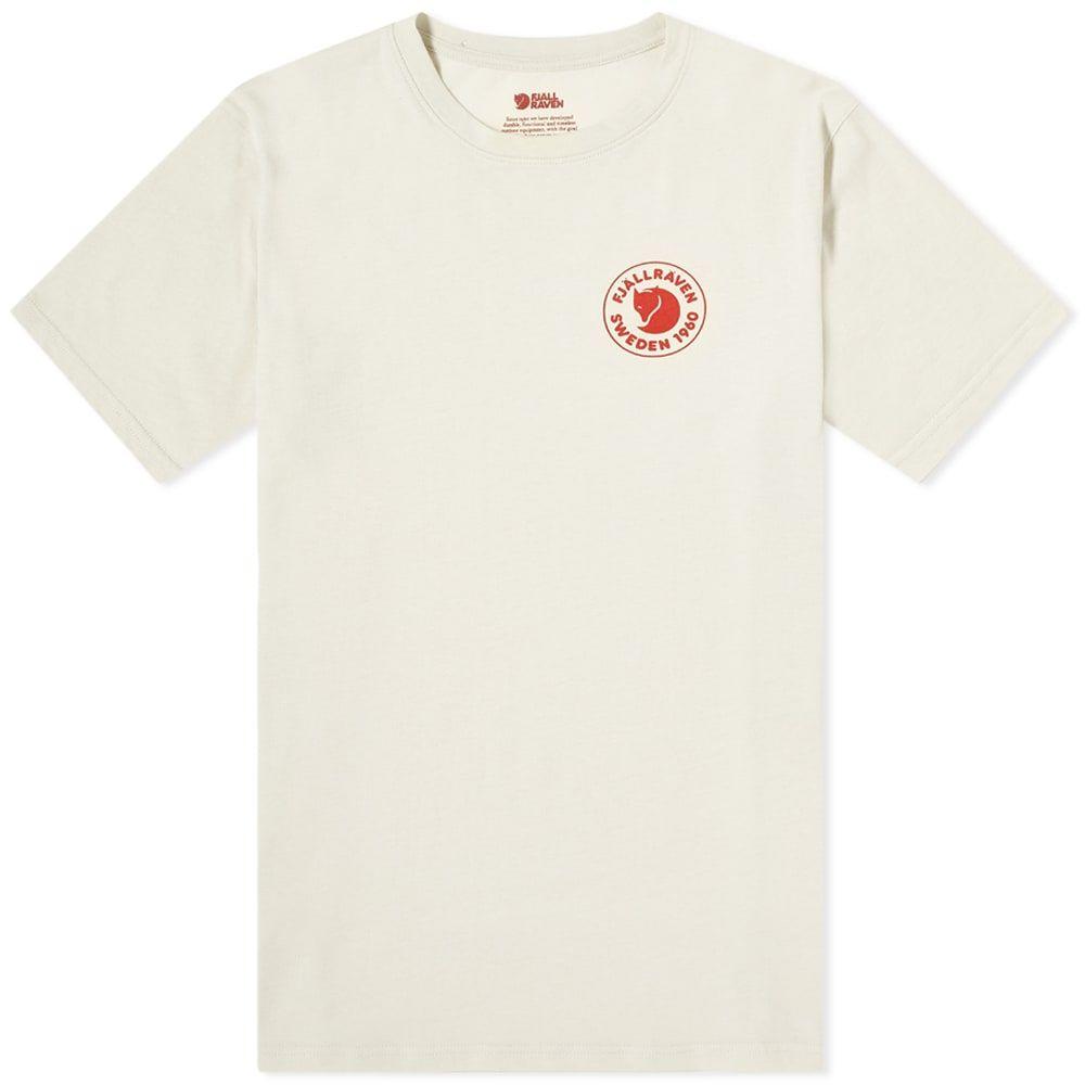 フェールラーベン メンズ トップス Tシャツ 人気海外一番 Chalk White 1960 Tee サイズ交換無料 Logo 日本未発売 Fjallraven ロゴTシャツ