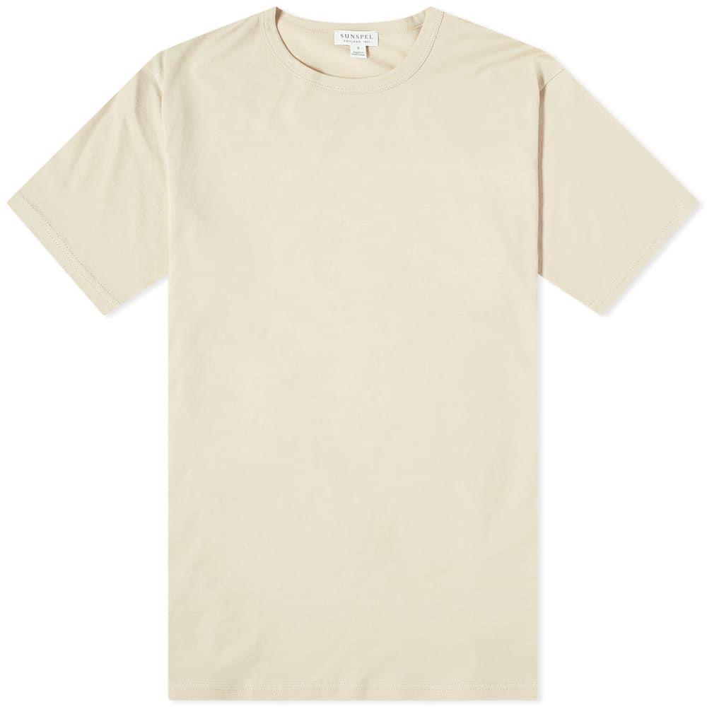 サンスペル Sunspel メンズ Tシャツ トップス【Classic Crew Neck Tee】Putty