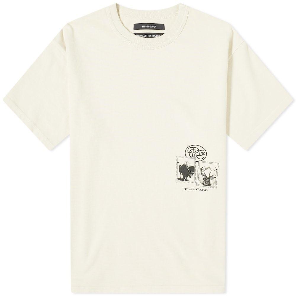 リースクーパー Reese Cooper メンズ Tシャツ トップス【Postcard Aged Tee】Vintage White