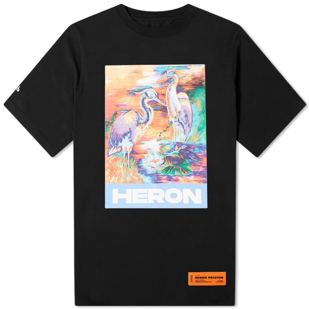 ヘロン プレストン Heron Preston メンズ Tシャツ トップス【Heron Art Bird Print & Embroidery Tee】Black