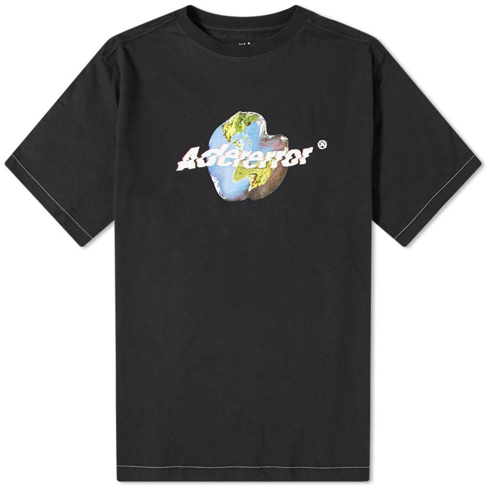アーダーエラー ADER Error メンズ Tシャツ ロゴTシャツ トップス【ADER error Earth Logo Tee】Black