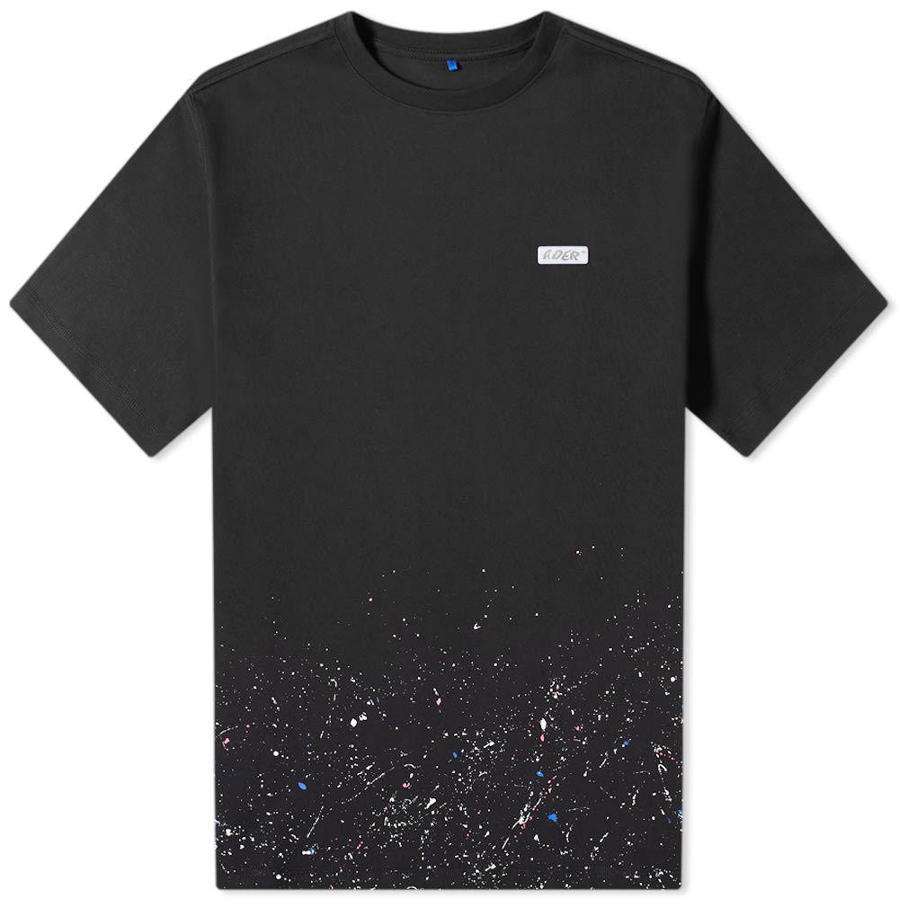 アーダーエラー ADER Error メンズ Tシャツ ロゴTシャツ トップス【ADER error Paint Detail Logo Tee】Black