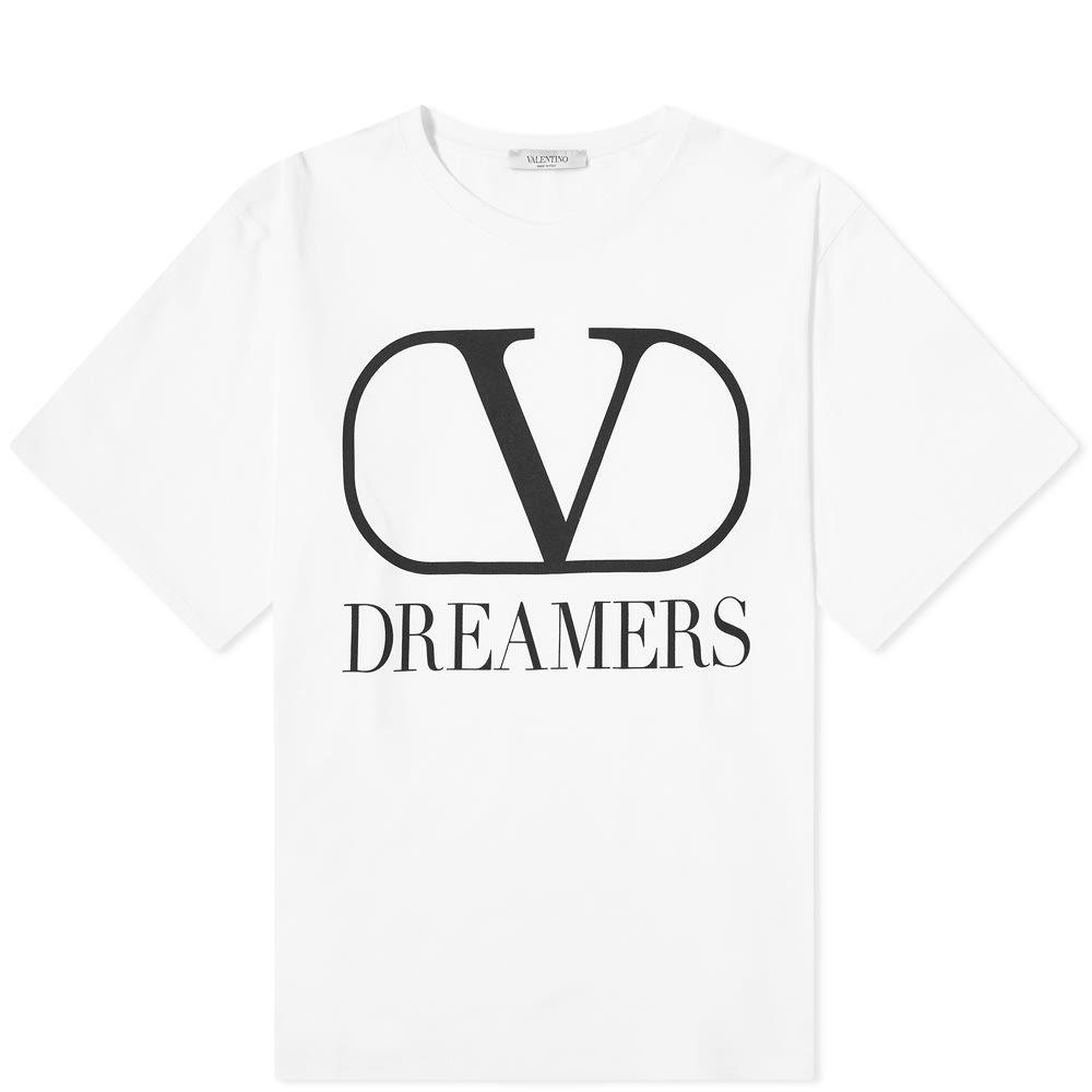 ヴァレンティノ Valentino メンズ Tシャツ ロゴTシャツ トップス【V Dreamers Logo Tee】White/Black