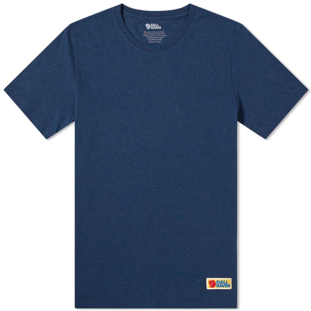 フェールラーベン Fjallraven メンズ Tシャツ トップス【Vardag Tee】Navy