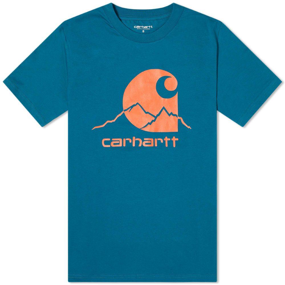 カーハート Carhartt WIP メンズ Tシャツ ロゴTシャツ トップス【Outdoor Logo Tee】Moody Blue/Clockwork