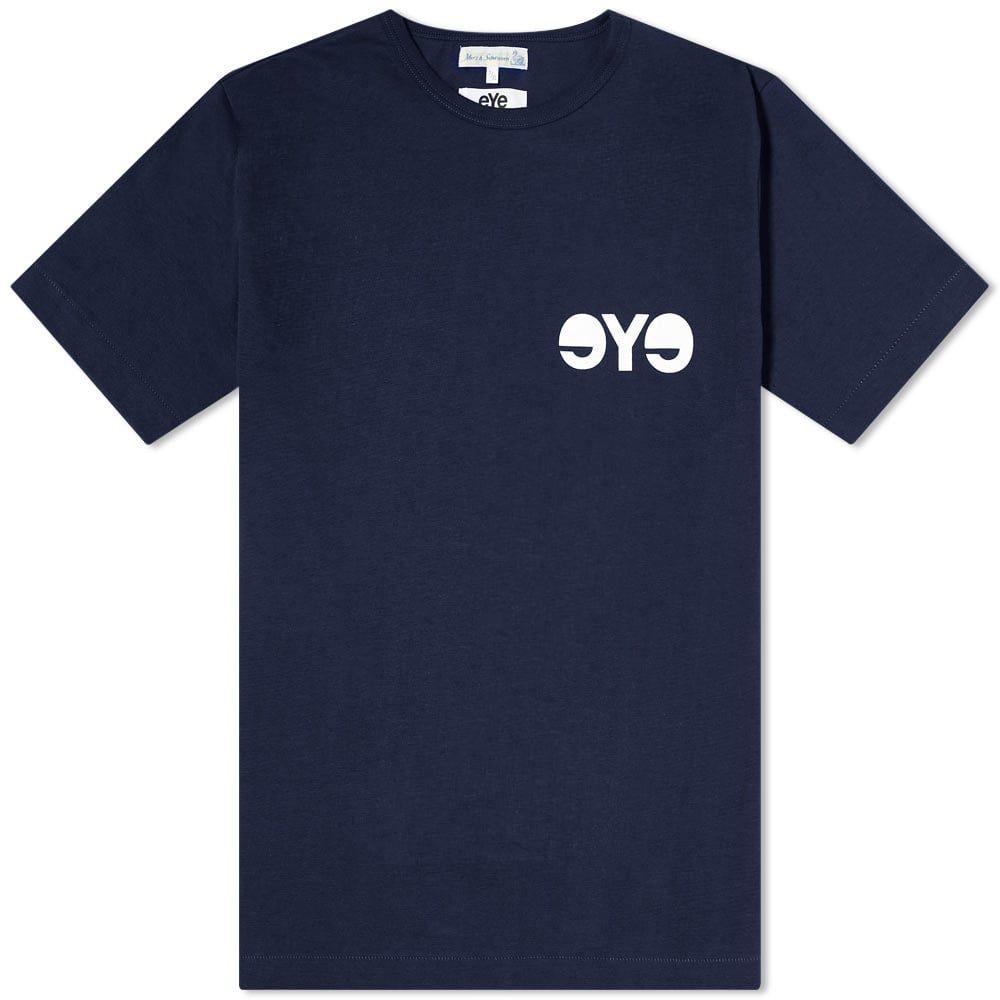 ジュンヤ ワタナベ Junya Watanabe MAN メンズ Tシャツ ロゴTシャツ トップス【x Merz b. Schwanen eYe Logo Tee】Navy