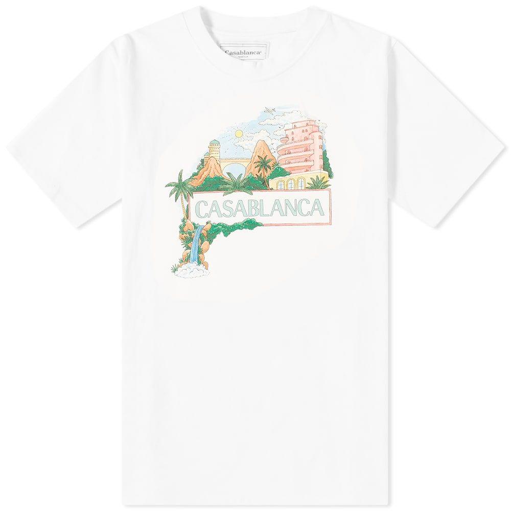 カサブランカ Casablanca メンズ Tシャツ トップス【Casa Views Tee】White
