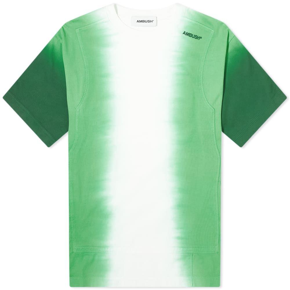 アンブッシュ Ambush メンズ Tシャツ トップス【Tie Dye Panel Tee】Multi/Green