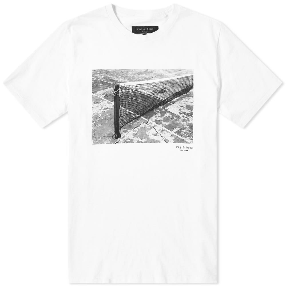 ラグ&ボーン Rag & Bone メンズ Tシャツ トップス【Tennis Court Photo Tee】White