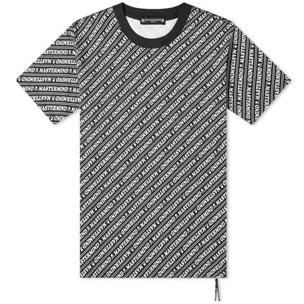マスターマインド MASTERMIND WORLD メンズ Tシャツ トップス【All Over Print Tee】Black Base