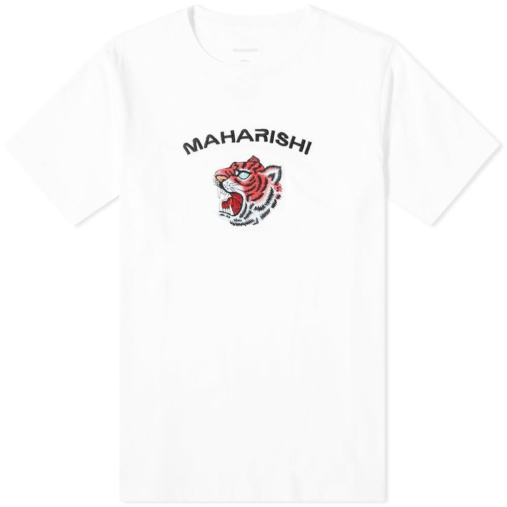 マハリシ Maharishi メンズ Tシャツ トップス【Tiger Invasion Tee】White