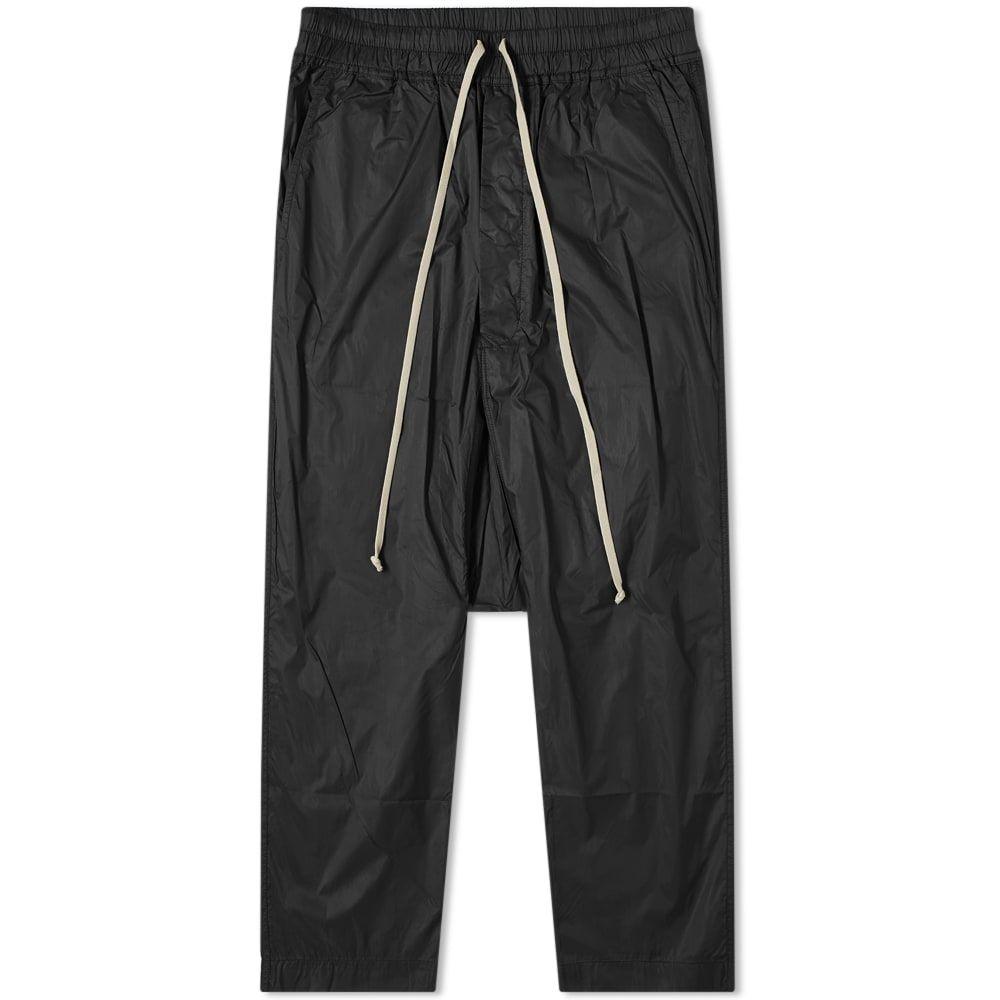 リック オウエンス Rick Owens メンズ クロップド ボトムス・パンツ【DRKSHDW Nylon Drawstring Cropped Pant】Black