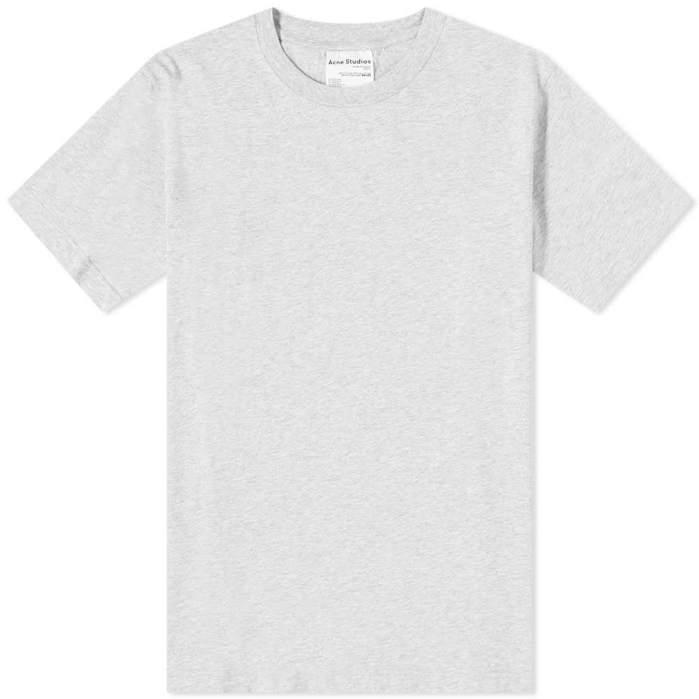 アクネ ストゥディオズ Acne Studios メンズ Tシャツ トップス【Everest Pink Label Tee】Pale Grey Melange